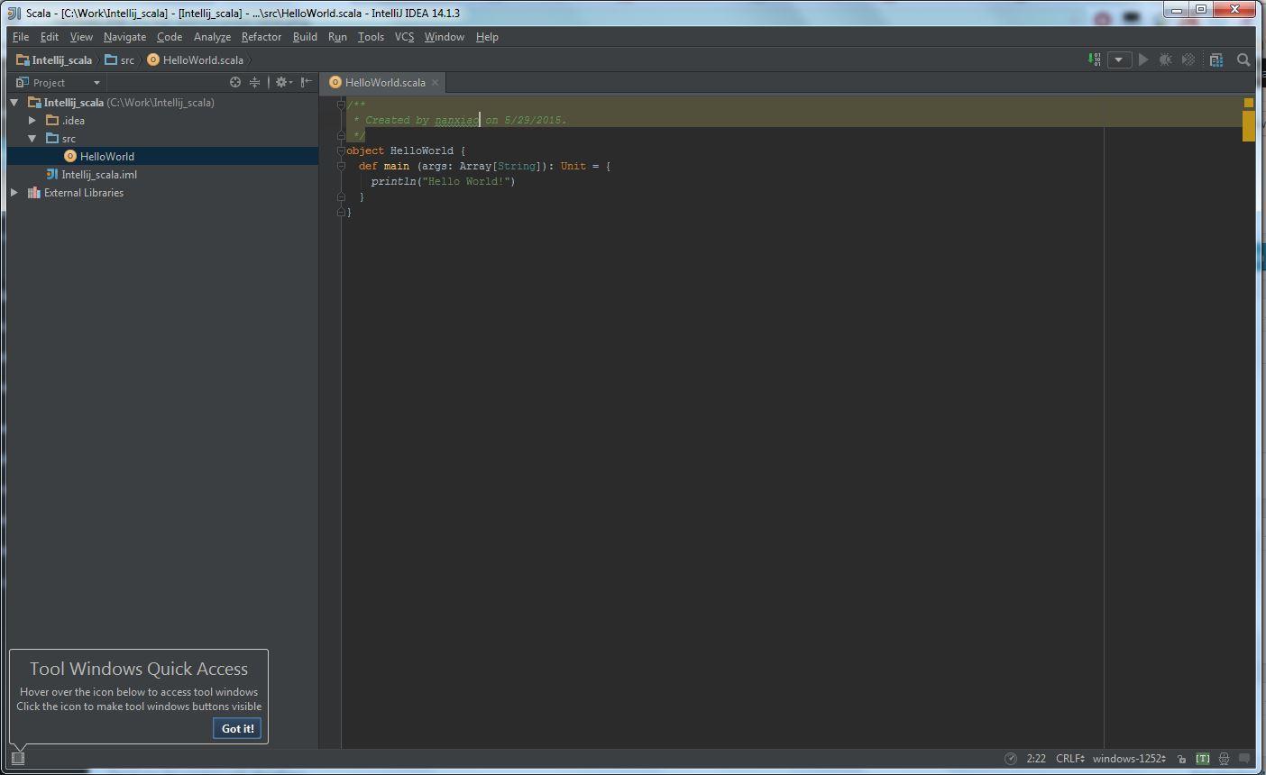 Getting Started with Scala in IntelliJ IDEA 14 1 | Nan