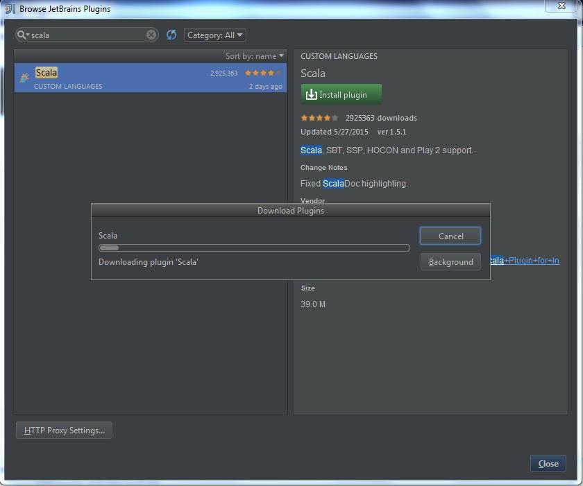 Getting Started with Scala in IntelliJ IDEA 14 1   Nan