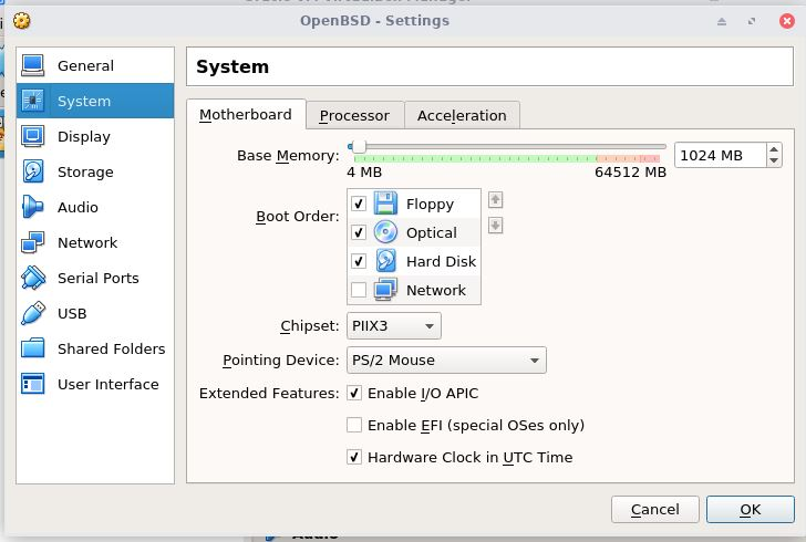 The timezone issue of installing OpenBSD in VirtualBox | Nan